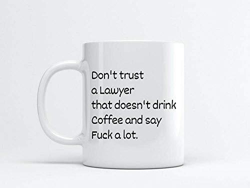 Divertida taza de café, taza de abogado, regalo para abogados, taza de café de 12 onzas, taza de café o té o café, taza de café novedosa para mujeres y hombres