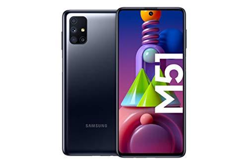 Samsung Galaxy M51 Smartphone de 6.7' FHD+ | Móvil Libre | Batería 7000 mAh y Carga rápida - Color Negro [Versión española] [Exclusivo Amazon]