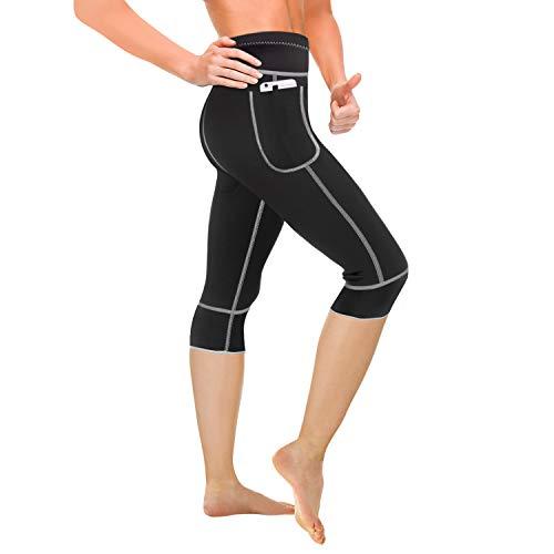 Pantaloni di Perdita di Peso Pantaloni Sauna,Pantaloni Termici per Sudorazione,Hot Shaper Pantaloni Dimagrante in Neoprene Termico,Cintura Modellante e Dimagrante Sauna Sudore MINIRAH