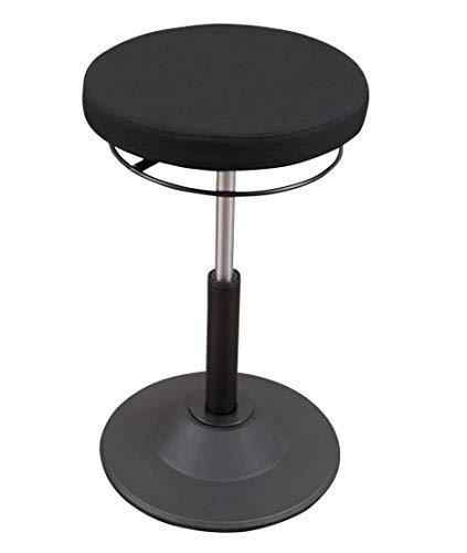 Ergonomic Adjustable Active Standing Desk Chair - Safely Rock, Tilt and Lean - Black
