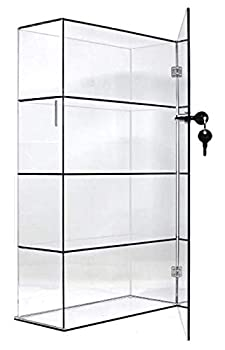 T z Tagz Brand Acrylic Lucite Showcase Jewelry Pastry Bakery Counter Display W/Door & Lock  10  X 4  X 18.25 h