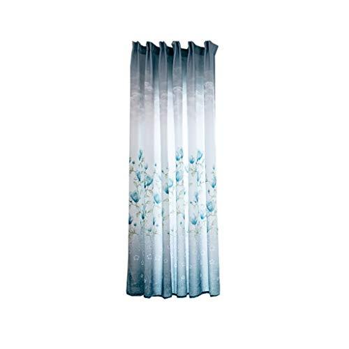 Xmiral Türvorhang Drucken Halbtransparent Kurz Gardine Mit Stangenloch 200cmx100cm Für Kinderzimmer Wohnzimmer Schlafzimmer(O)