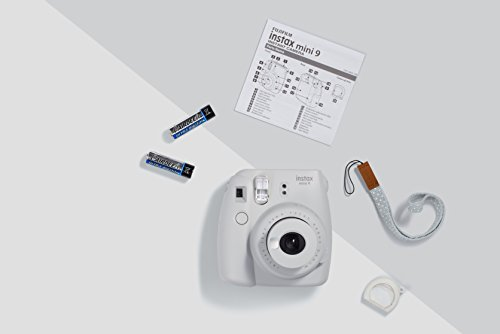 Fujifilm Instax Mini 9 Instant Camera, Smokey White