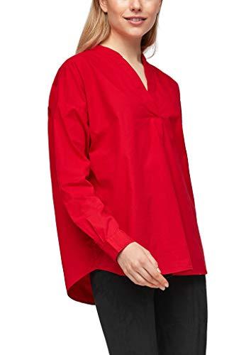 s.Oliver Damen Bluse mit Tunika-Ausschnitt red XS