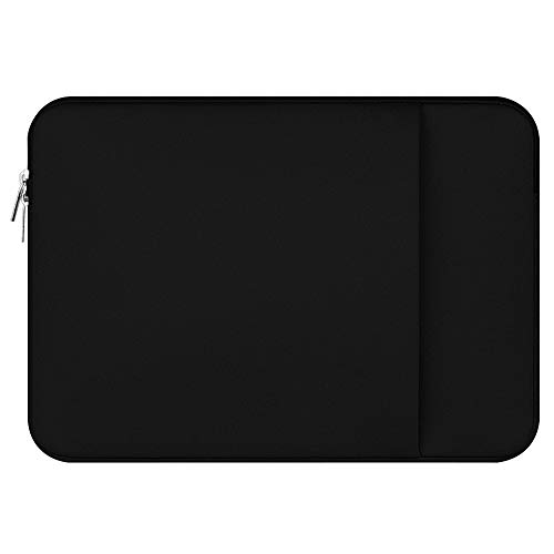LAAT Portable Laptop Sleeve Case Notebook Cover Carry Bag for Laptop Zipper for Ultrabooks/MacBook Air/MacBook Pro 11/12/13/14/15/15.6 inches (13inches, Black)