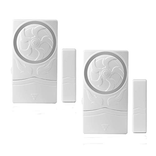 GREENCYCLE 2PK Door and Window Alarm 4-in-1 Mode Window Alarms for Wireless Alarm Security System Magnetic Alarm Sensor Time Delay Alarm Loud 110 dB for Home Garage Kids Safety and Refrigerators