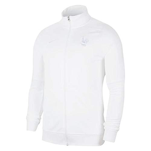 Nike 2020–2021 Frankreich Anthem Jacke (weiß) – Kinder