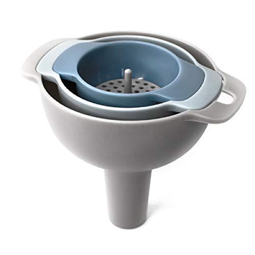 YQDHB Juego de Embudo de Cocina, plástico Cuatro en uno Multifuncional para el hogar Cocina Filtro Desmontable diseño de anidamiento Juego de Embudo
