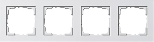 GIRA Serie Standard 55 - reinweiß glänzend (021429) Rahmen 4f reinweiß E2