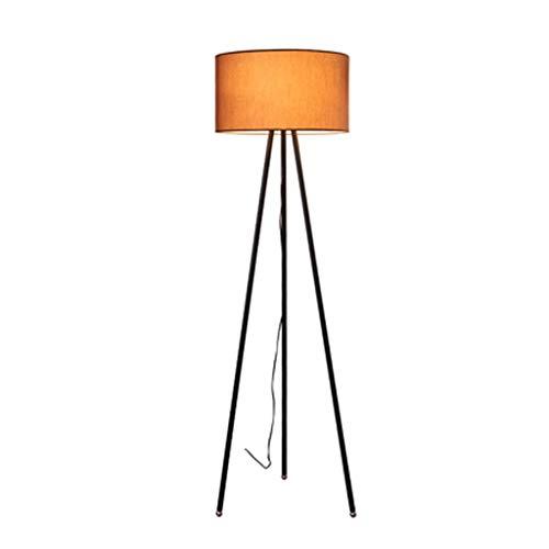 YQGOO Lámpara de pie Lámpara de pie con trípode, Luz de pie Interior Elegante y Moderna para habitación y Dormitorio, Luz de pie con Tela Blanca