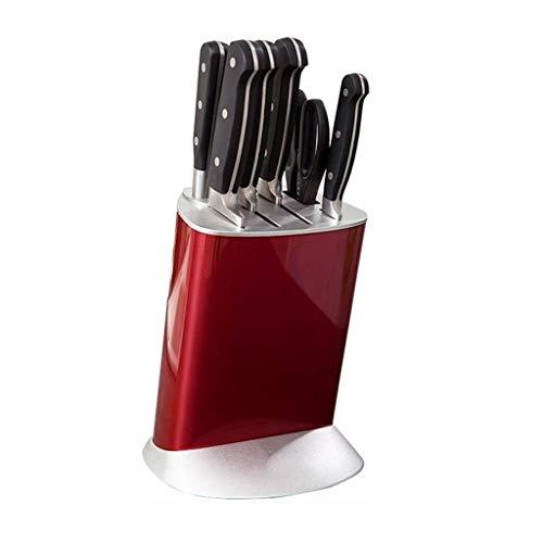 SCDGYG Plástico portacuchillas - Diseño ergonómico ángulo del Cuchillo de Cocina portacuchillas Rojo Desmontable Titular