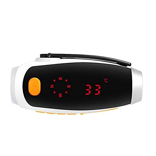 yaoyan Multifunktions-Luftdruck-Elevationsthermometer Temperatur Luftfeuchtigkeit Luftdruck Höhenmesser Hand Taschenlampe LED-Licht-Multicolor