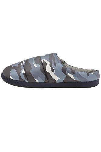 Trueboy Dunlop Mens Camouflage Mule Slipper - Navy Blue Camo - Medium 8/9