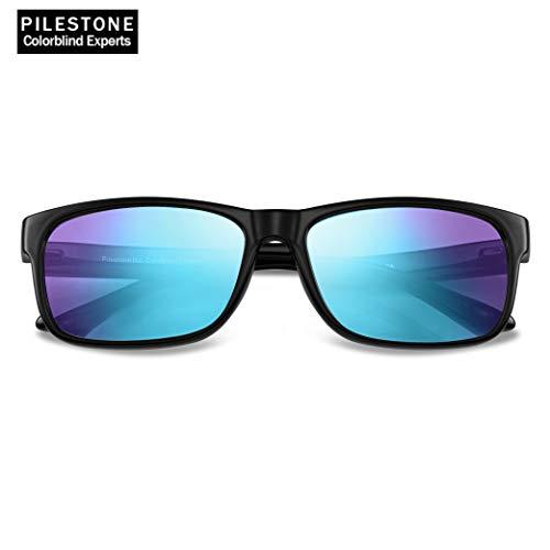PILESTONE TP-025 (Typ B) farbenblinde gläser Color Blind Korrekturbrille für rote / grüne Farbenblindheit - mittelstarkes, starkes und schweres Deutan und mittelstarkes, starkes Protan