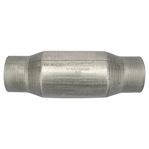 MAYASAF 3' Inlet/Outlet Universal Catalytic Converter, High Flow Exhaust Pipe, w/o O2 Port (EPA Compliant)