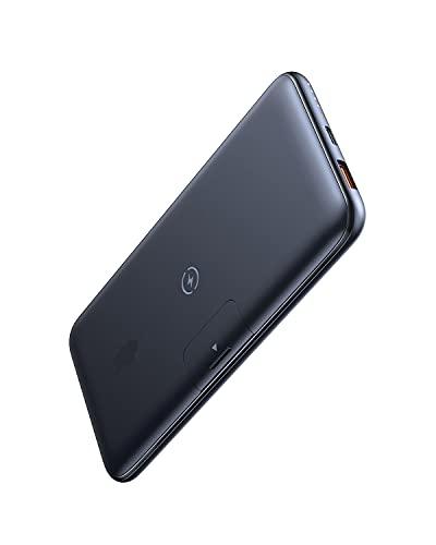Wireless Powerbank 20000 mAh, 10W Wireless Charging + 18W PD Fast Charging, Externer Akku mit 1 USB-C und 1 Micro-USB, kompatibel mit iPhone 13, Galaxy S21, iPad, AirPods