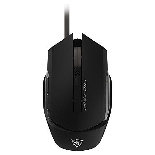 ThunderX3 TM20GR- Ratón gaming profesional-(Sensor óptico, Conmutador mecánico Omron, 4000 DPI, Personalización absoluta, Base metálica, diseño ergonómico) Color Negro