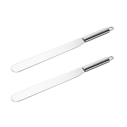 Corner Cabin Cake Metal Spatula Stainless Steel Foodservice Straight Icing Spatula Spreader, Set of 2, 11-Inch, Silver