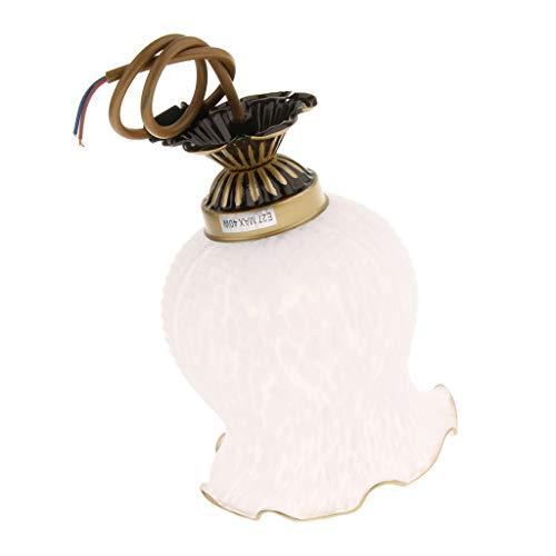 Homyl E27 Blanc Remplacement Verre Forme Fleur Sphériques Ventilateur de Plafond Abat-Jour - 5