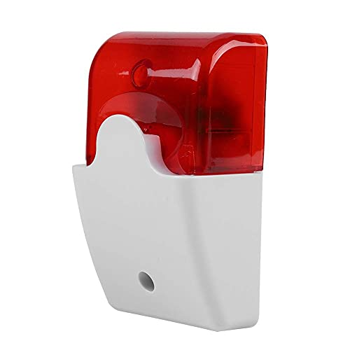 Alarma de Sonido de Sirena Estroboscópica Con Cable, Sirena de Luz Roja Estroboscópica Sirena de Flash Sistema de Alarma de Seguridad para El Hogar Sirena de 110db 12v Dc