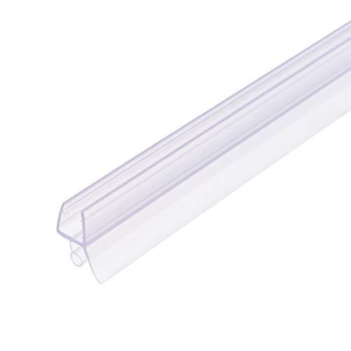 uxcell - Barra para puerta de ducha de cristal sin marco, tira de sellado lateral inferior de la puerta con riel de goteo de 5/16 pulgadas, vidrio de 5/16 pulgadas x 27.56 pulgadas de longitud