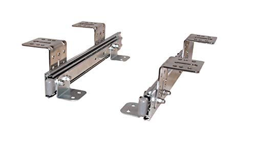 Teleskopschienen für Tastaturauszug 300 mm Nutzhöhe 47 mm zur Untertischmontage