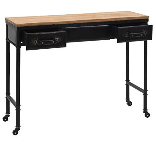 Festnight Table Console Table de Chevet en Bois Multicolore 100 x 33,5 x 80 cm avec 2 tiroirs de Salon