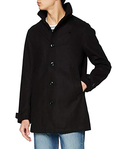 G-STAR RAW Garber Empral Wool Trench Abrigo, Negro (Dk Black 6484), Large para Hombre