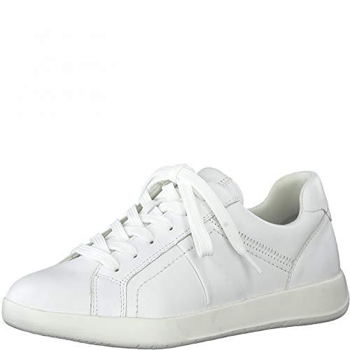 Tamaris Mujer Zapatillas, señora Bajo,Touch It,Zapato bajo,Zapato de Calle,cordón,Zapato con cordón,Zapato Deportivo,Ocio,White Uni,40 EU / 6.5 UK