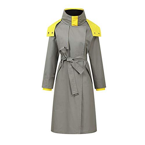 YOURUOMEI Regenjas Vrouwen Waterdicht Lange Hooded Trench Jassen, Gevoerde Windbreaker Reisjas, Geschikt voor Dagelijks, Lente En Herfst