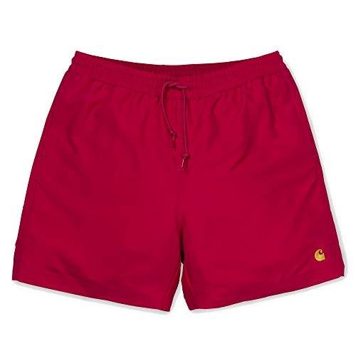 Carhartt Chase Swim Trunks I026235 Cardinal Gold Badehose für Herren Small