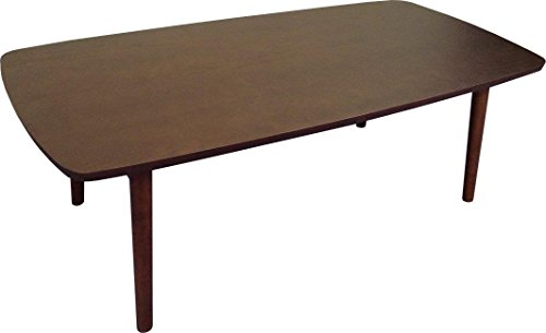 AZUMAYA SGS-229DBR Folding Legs Coffee Center Table, W41.3 x D20.5 x H13.8 Inches, Natural Dark Brown Ash and Rubber Wood Material, Home and Living, Dark Brown Color