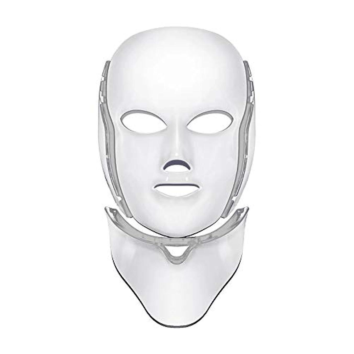 紳士気取りの、きざなオプション検索エンジン最適化首/軽い皮の若返り療法の顔のスキンケアのマスクが付いているLED 7色の軽い療法のマスク