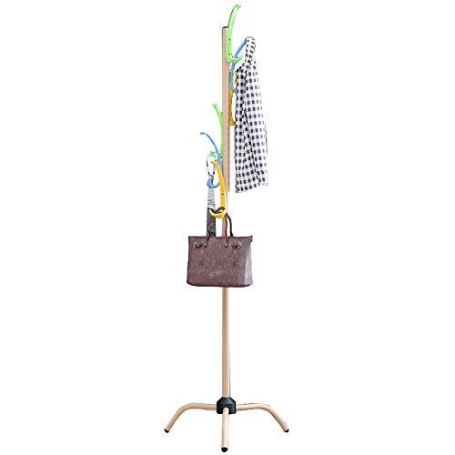 ZHIWUJIA Ganchos Gancho de Arco de Colores Soporte Estable Fácil instalación Perchero de Metal Puesto de Paraguas con el Fin de Dormitorio/balcón 50x50x183cm / 19.7x19.7x72 Pulgadas (Color Madera)