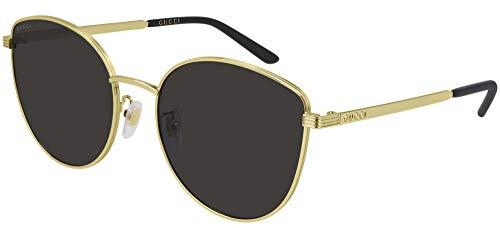 Gucci Gafas de Sol GG0807SA Gold/Grey 58/19/145 mujer