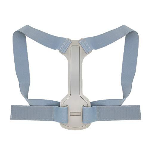 Verstellbare Rücken im Korrektor-Gurt Clavicleweinlesehalskette Spine Männer Frauen Home Office Außen obere Rückseite Taille Schulter Haltungskorrektur (Color : Grey, Size : S)