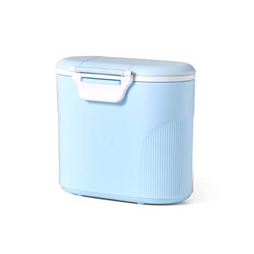 Luchild milchpulver aufbewahrung,Milchpulver-Spender Tragbarer Baby-Milchpulver-Behälter Formel Milchpulver-Vorratsbehälter mit Gleichmacher und Löffel - Kapazität 380g (Blau)