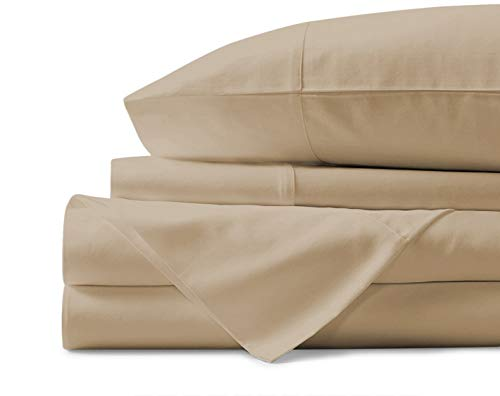 Mayfair Linen 100% Egyptian Cotton Sheets, Sand Queen Sheets Set, 800 Thread Count Long Staple...