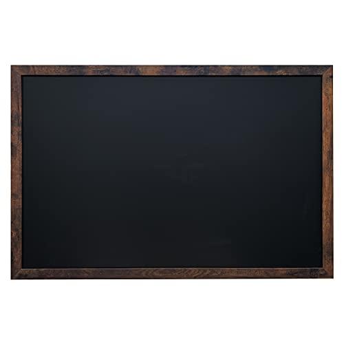 Loddie Doddie Magnetic Chalkboard - for Kitchen and Wall Decor - Easy-to-Erase Chalkboard - Framed Magnet Blackboard - Hanging Black Chalkboards (Rustic Frame, 24x36)