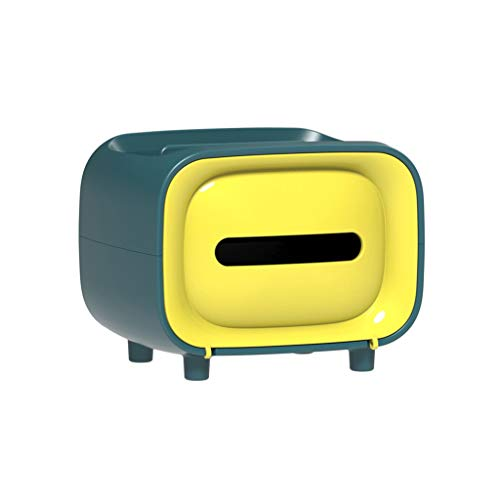 DALIN Caja de papel de papel con diseño retro de televisión, soporte para teléfono