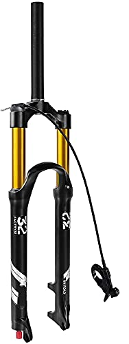 YLXD 26 27.5 29 Pollici 100mm di Escursione, 1-1 8  Diritta conica MTB Forcella Anteriore Forcella per Mountain Bike Regolazione Estensione Freno a Disco QR 9mm B,26