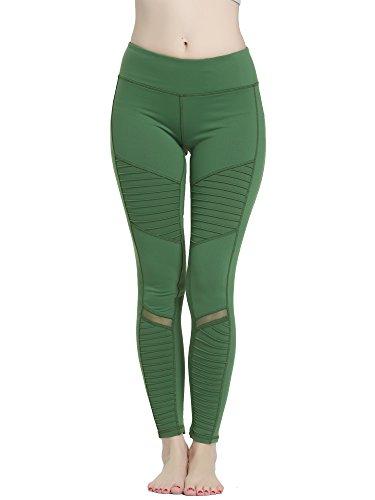 DODOING Damen Falten Yoga Hose Hohe Taille Stretch Skinny Slim Bleistifthose Leggings - Pleated Pencil Pants