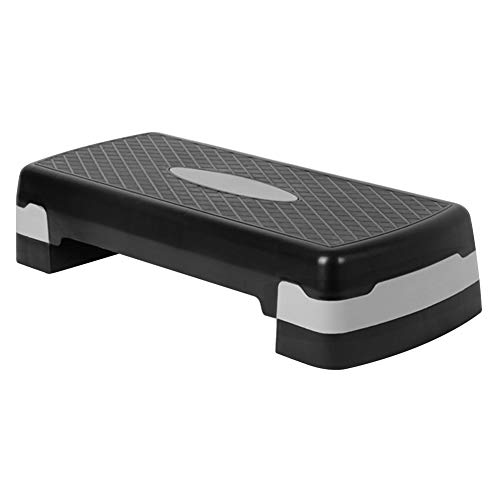 Glenmore Step Fitness Casa Banco: Plataforma Regulable Steps Aerobic para Ejercicio Gimnasio Pesas Body Pump - Yoga Gym de Ejercicios Banco Stepper Fitness Cardio Tabla Ejercicios en Casa Accesorios
