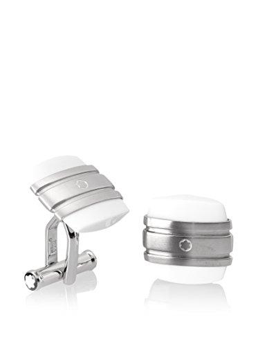Metal: acero inoxidable Piedra: ágata blanco Procesamiento: Pulido Mecanismo: Cierre Plegable Tamaño: 2,2x 1,5x 1,5cm