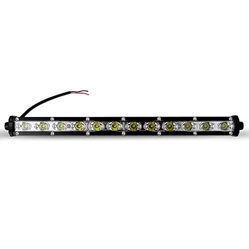 Faro da Lavoro LED, Kraumi 36W Linea lunga Fari Led 12V 24V Fari di Profondità Impermeabile IP67 Luci di Lavoro Fuoristrada per Moto Auto ATV SUV Trattore, 6500K