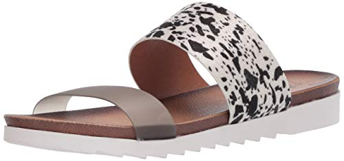 Dirty Laundry by Chinese Laundry Women's Flat Slide Sandal, Blk/Wht, 9.5