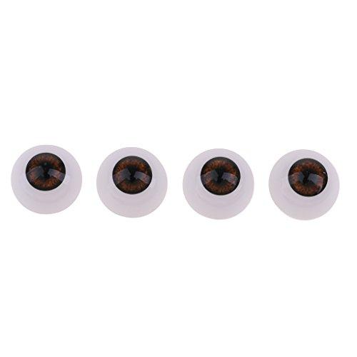 NON MagiDeal 4 Piezas Ojos Acrílicos de Seguridad para Baby Doll DIY Accesorios de Muñeca de Bricolaje - Marrón, 20 mm