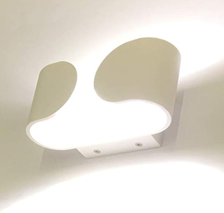 Wandleuchte Moderne Wandleuchte Hotel Innenbeleuchtung wasserdicht Nebel Wandleuchte LED Leselampe am Bett Wohnzimmer Flur Gang Leuchten (Farbe  warmes Licht)