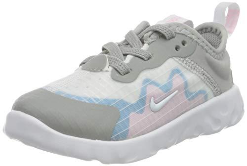 Nike Lucent (TD), Scarpe da Corsa Unisex-Bimbi 0-24, LT Smoke Grey/White-Pink-Laser Blue, 22 EU