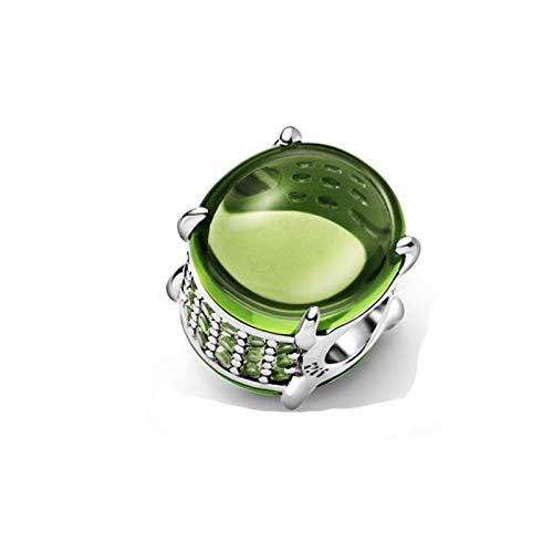 Jewelry Bracelet 925 Pandora Natural Valentine'S Day Style Sterling Silver Charms Beads Sparkling Green Round Fit Original Silver Diy Gifts For Women